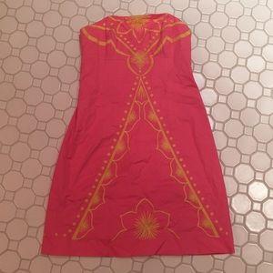 Lily Pulitzer Embroidered Dress w/ Matching Shawl